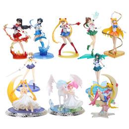 Figuarts Figures NZ - 8'' 20cm Figuarts ZERO super sailor moon anime Sailor mars Mercury Jupiter Venus 1 8 PVC Action Figure Collectible Model toys