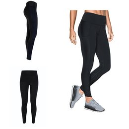 Discount girls sports tight pants - S-XXL Summer Stretchy Leggings Women Sport Jogging YOGA Pants U&A Skinny Tights Designer Solid Color GYM Workout Trouser