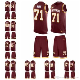 Washington Limited football Jersey Redskins Burgundy Red Tank Top Suit 11  Alex Smith 8 Kirk Cousins 72 Eric Fisher 16 e41974cfd