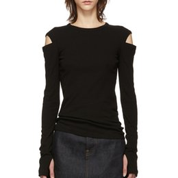 $enCountryForm.capitalKeyWord NZ - DEAT 2019 New Spring Fashion Round Neck Hollow Out Off-the Shoulder Full Sleeves Slim T-shirt WD55601L