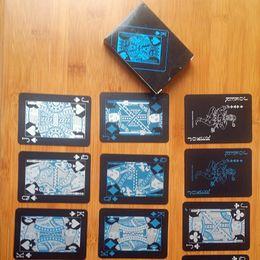 $enCountryForm.capitalKeyWord NZ - Black Texas Holdem Classic Advertising Poker Waterproof PVC Grind Durable Board Role Playing Games Magic Card 4 2hy