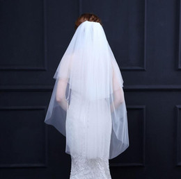 $enCountryForm.capitalKeyWord Australia - The best-selling pure gauze bride veil Soft net double-layer 60 100 can cover the hair with a comb Wedding veil Studio style yarn Free shipp