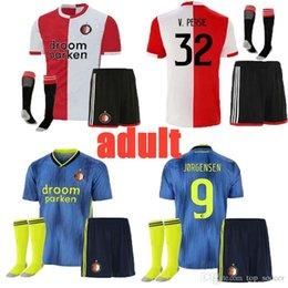 Thailand Shirts Australia - new 19 20 Feyenoord adult soccer jersey home AWAY thailand 19 20 V.PERSIE BERGHUIS VILHENA JORGENSEN 19 20 FEYENOORD JERSEY ADULT SHIRT