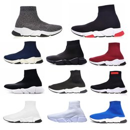 $enCountryForm.capitalKeyWord Australia - 2019 Designer Unisex Casual Shoes Flat Fashion Socks Boots Red Grey Triple Black White Stretch Mesh High Top Sneaker Speed Trainer Runner