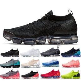 wholesale dealer bf82e 244f7 nike Chaussures vapormax air max 2019 Pas Cher En Gros Baskets Chaussures  Hommes Noir Blanc Rouge Baskets De Tennis 2018 2.0 Chaussure Femmes  Designer Sport ...