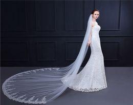$enCountryForm.capitalKeyWord Australia - Bride trailing veil high-end lace big veil photo wedding dress accessories