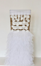 Champagne Chair Australia - Custom Made Pearls Flowers Tiers Wedding Chair Covers Beautiful Cheap Wedding Party Decorations Vintage Chair Sashes Supplies C04