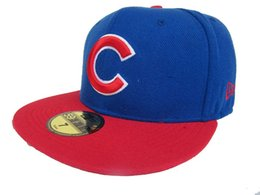 China Men's Chicago fitted hat Top Quality flat Brim embroiered Team logo fans baseball Hats cubs full closed caps supplier adult animals full suppliers