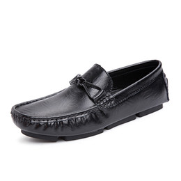$enCountryForm.capitalKeyWord Australia - Chaussures Hommes Men Loafers Leather Mans Moccasins Mens Casual Shoes Designer Loafer Male Flats Gommino Car Driving Slip Ons Shoes Black