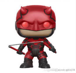 pop collectible figures NZ - Adorable Funko Pop Marvel Daredevil Red Suit Collectible Vinyl Action Figure with Box #214 Popular Toy Doll