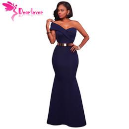 fe50ce58640a8 Dear Lover Long Dress Party Navy Blue red Sexy One Shoulder Maxi Gowns Robe  De Soiree Longue 2018 Vestido Longo De Festa Lc61774 T190411