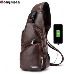 $enCountryForm.capitalKeyWord Australia - Mens Crossbody Bags Men Usb Chest Bag Designer Messenger Bag Leather Shoulder Bags Diagonal Package Nice Pop Back Pack Travel