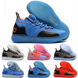 Women Size 12 Rhinestone Shoes Australia - 2018 New Kid Women Youth KD XI 11 EP Oreo Many Colors Basketball Shoes Good quality Kevin Durant 11s Basketball Shoes Size US 4-12