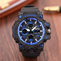 Men Digital Wrist Watches Australia - Men PRW Sports Electronic wristwatch ga Men's g Watch Big bang Dial Digital waterproof LED male shock Wrist Watches ga Pandora