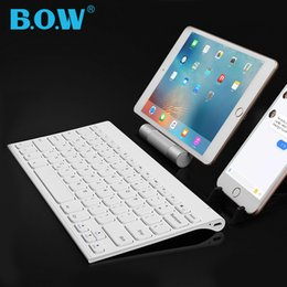 Discount wireless keyboards colors - B.O.W 7 Colors Backlight Slim Bluetooth Wireless keyboard Matte Metal Rechargeable Keyboards for Tablets,Laptops and Sma