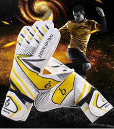 racing hand gloves UK - Thick wear-resistant latex non-slip band finger football goalkeeper hand goalkeeper training gloves goalkeeper gloves latex non-slip adult f