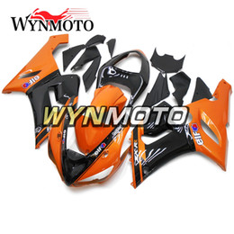 Zx6r Black Orange Australia - Motorcycle ABS Plastic Injection Full Fairings For Kawasaki ZX6R 05 06 ZX-6R Ninja 2005 2006 ZX-6R 05 06 Bodywork Elf Gloss Orange Black New