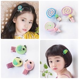 Wholesale Cartoons Lollipop Australia - Cartoon lollipop girls hair clips noctilucence floral baby BB Clips glisten kids Barrettes princess girls Hairclips hair accessories A5364