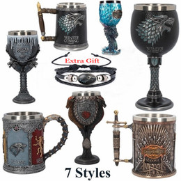 stainless games Australia - GAME OF THRONES IRON THRONE TANKARD 620ML Stainless Steel Resin Cups SIGIL TANKARD Skull Mug Beer Drinkware Cup