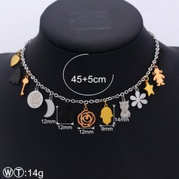 $enCountryForm.capitalKeyWord Australia - New Design Spanish Jewelry Bears hamsa star moon heart pearls key girl elephant crown charms findings Necklaces