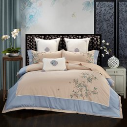 duvet cover chinese flowers NZ - 2020 Egypt Cotton Chinese Classic Bedding Set Flower and bird Duvet Cover Bed Sheet Pillowcases Queen King Size 4 6 7Pcs