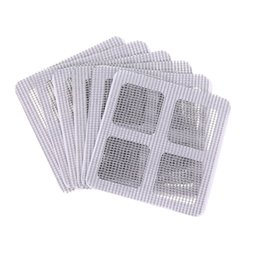 anti insect net UK - 50Pcs Anti-Insect Fly Bug Door Window Mosquito Screen Net Repair Tape Patch Self Adhesive Repair Tape Window Repair Accessories