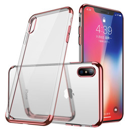 Plate clear online shopping - For iPhone X XS Max XR Plating Soft Clear TPU Case Silicone Transparent Gel Cover Phone For Samsung S10 PLUS S10e S9