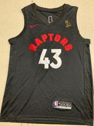 $enCountryForm.capitalKeyWord Australia - 2019 New Style Fans Toronto Men Raptors #43 Siakam Embroidery Basketball Vests black Gold Edition Jerseys