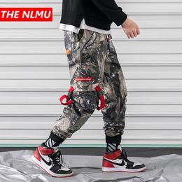 34e72f13ca93c Mens Hip Hop camuflaje Patchwork Cargo Joggers pantalones hombres 2019  Casual Vintage Harem Pant Pantalones tobillo-longitud Streetwear WG09