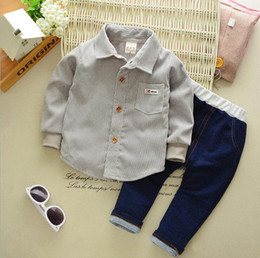 Branded Baby Kids Clothes Australia - Baby Boys And Girls Suit Brand Tracksuits Kids Clothing Set Hot Sell Fashion Spring Autumn Long Cartoon two piece Cowboy suit clothes