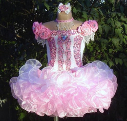$enCountryForm.capitalKeyWord Australia - Pink Lovley Cupcake 2019 New Designer Girls Pageant Dresses Beads Srquined Crystals Flower Girls Dress for Wedding Party Birthday Gowns