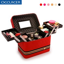 Portable Folding Shoes Australia - Portable 3 Layers Folding Drawer Makeup Organizer Storage Bags Jewelry Container Cosmetic Box for Home Travel Women Female