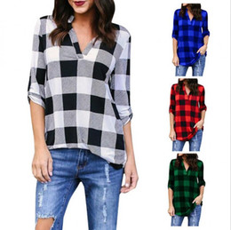 1deeeceef55 Girls tops tunics online shopping - Plaid tshirt T Shirt Women Clothes Tunic  Camisetas Mujer Tops