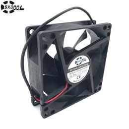 25mm dc fan online shopping - SXDOOL SXD8025B24H mm dual ball bearing DC V A P RPM CFM axial case cooling fan