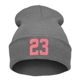 $enCountryForm.capitalKeyWord Australia - 2018 New Fashion Unisex Women Mens 23 Print Cap Men Casual Hip-Hop Hats Knitted Wool Skullies Beanie Hat Casual Warm Winter Hat