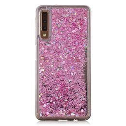 Discount hard case samsung a7 - For Samsung Galaxy A7 2018 A750F Case Cover Quicksand Flash Glitter Powder Mirror Hard Mobile Phone Cases