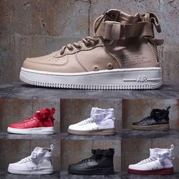 a97d201e1 New Special Field Air Mid Forces SF 1 MID Sports Shoes Camo QS Military  Boots High-top Sneakers White Black Green Wheat sport shoes