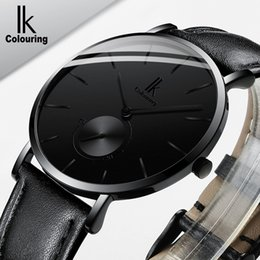 Luxury Ik Brand Watch Australia - Minimalist simple ik Luxury Brand Watches men 2018 Quartz wristwatch genuine Leather clock relogio Masculino C19010301