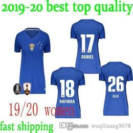 Brazilian customs online shopping - newest Brazilian league Cruzeiro blue Women Soccer Jerseys FRED THIAGO NEVES Custom Cruzeiro Blue girl Football Shirt