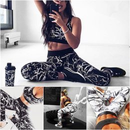 Wholesale deep v neck women's tops for sale – plus size 2019 DHL Women s Deep V Neck Sexy Piece Outfits Printed BodyconClub Jumpsuit Long Sleeve Crop Top and Pants Set
