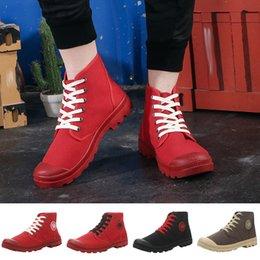 $enCountryForm.capitalKeyWord Australia - ONTO-MATO Brand Couple Canvas High Shoes Breathable Wild Casual Shoes Non-Slip Hiking Dropshipping Turnschuhe Baskets