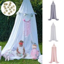 kids canopy tents NZ - Hanging Mosquito Net Baby Bed Canopy Dome Dream Curtain Tent Baby Crib Netting Round Hung Kids Canopy Tent Children Room Decor