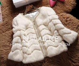 short hair rabbit UK - Woman chun qiu han edition euramerican new fund individual character tide short money rabbit hair 7 minutes sleeve fur coat   M-2XL
