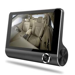 "Date Camera UK - 3 ways camera auto registrator car DVR recorder 4"" screen 1080P FHD video front 170° rear 140° interior 120° night vision G-sensor"