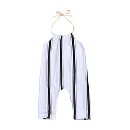5ec6cc36d56d Zebra Jumpsuit Kids UK - Little Girls Cotton Onesies Kids Girls Jumpsuits  Overalls Rompers Belt Backless