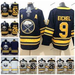 2019 Buffalo Sabres 9 Jack Eichel 26 Rasmus Dahlin 53 Jeff Skinner Navy Blue  White Stitched Hockey Jerseys S-XXXL 2285c61fd