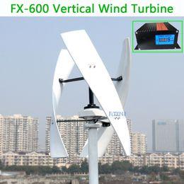 Опт 600 Вт Вертикальная ветровая турбина MAX 650W 12V 24V 48V 1,5м начать 250 мл. Нет шума с высокой эффективностью