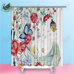 Sporting 3d Lotus Painting 78 Shower Curtain Waterproof Fiber Bathroom Windows Toilet Attractive Fashion Shower Curtains Home & Garden