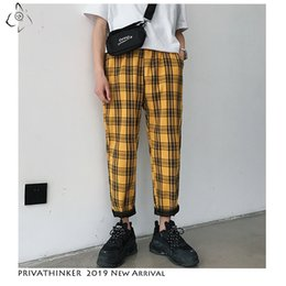 $enCountryForm.capitalKeyWord Australia - Privathinker Men Women Korean Black Plaid Casual Pants 2019 Mens Streetwear Harem Pants Male Checkered Trousers Plus Size SH190912