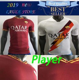 Wholesale Player Version AS Roma home away Soccer Jerseys NAINGGOLAN TOTTI DZEKO PEROTTI DE ROSSI PASTORE Custom Home Red Yellow Football Shirt